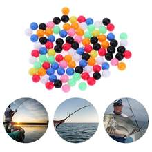 100Pcs Colorful Fishing Lure Beads Plastic Round Luminous Fishing Beads Glow in Dark Fishing Rig Beads Fishing Accessories Pesca(China)