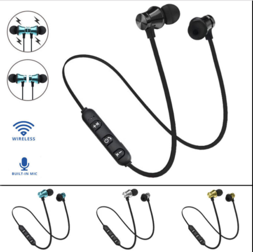 <font><b>Metall</b></font> Magnetic Drahtlose <font><b>Bluetooth</b></font> Kopfhörer <font><b>Sport</b></font> Headset Stereo Bass Kopfhörer <font><b>Wireless</b></font> <font><b>Bluetooth</b></font> Headset 20A28 image