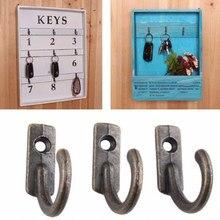 10pcs Antique Brass Wall key holder Mounted Hook Key Towel Holder Letter Coat rack Clothes Hanger Hanging key hanger(China)