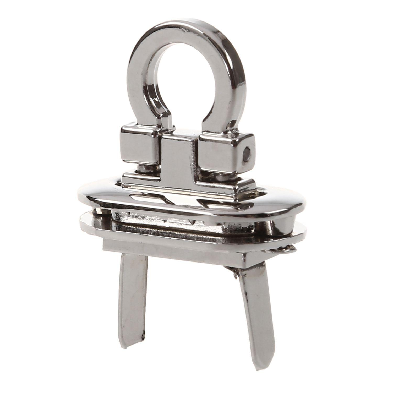 Turn-Lock Purse Hardware Handbag Craft-Bag Round Clasp Metal Silver for DIY