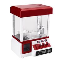 ABS Plastic Arcade Candy Grabber Machine Toy Motorized Claw Game Kids Fun Crane Gadget Portable Coin Operated Game Entertainment