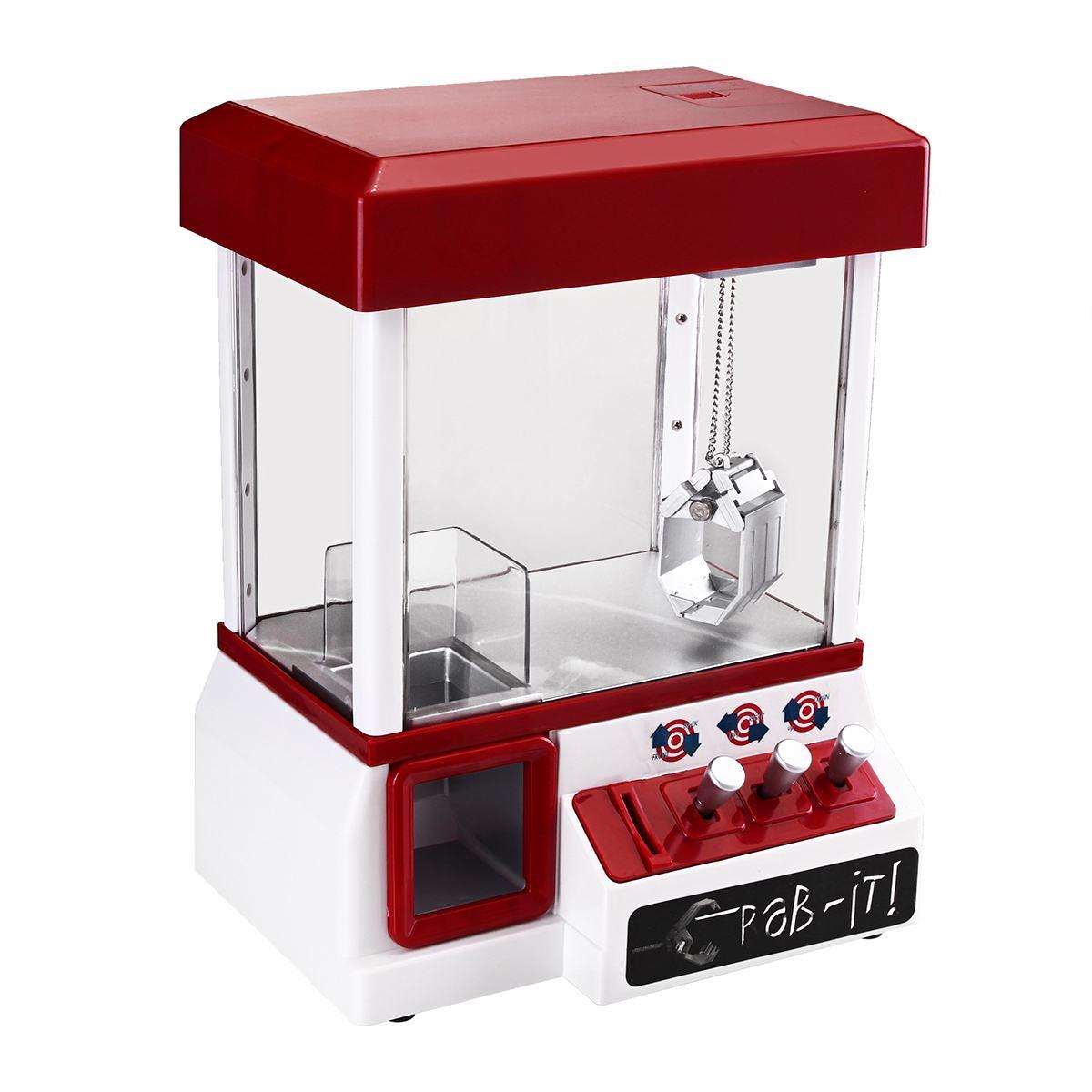ABS en plastique Arcade bonbons Grabber Machine jouet motorisé jeu de griffe enfants amusant grue Gadget Portable monnayeur jeu divertissement