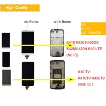 10Pcs/lot Display For LG K10 LCD Touch Screen with Frame TV K410 K430 K430DS K420N 420N LTE IC