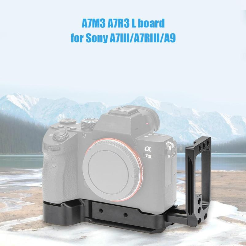 A7M3 A7R3 L Plate for Sony A7III A7RIII A9 Camera Quick Release Baseplate Aluminum Alloy Photography