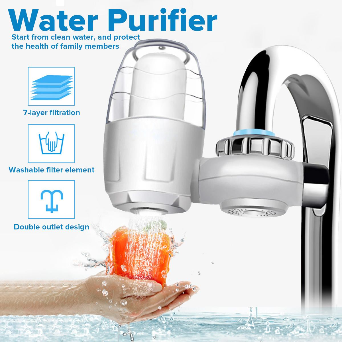 water filtration faucets kitchen new home kitchen faucet water purifier 7 layer filter water filter purification system remove 668