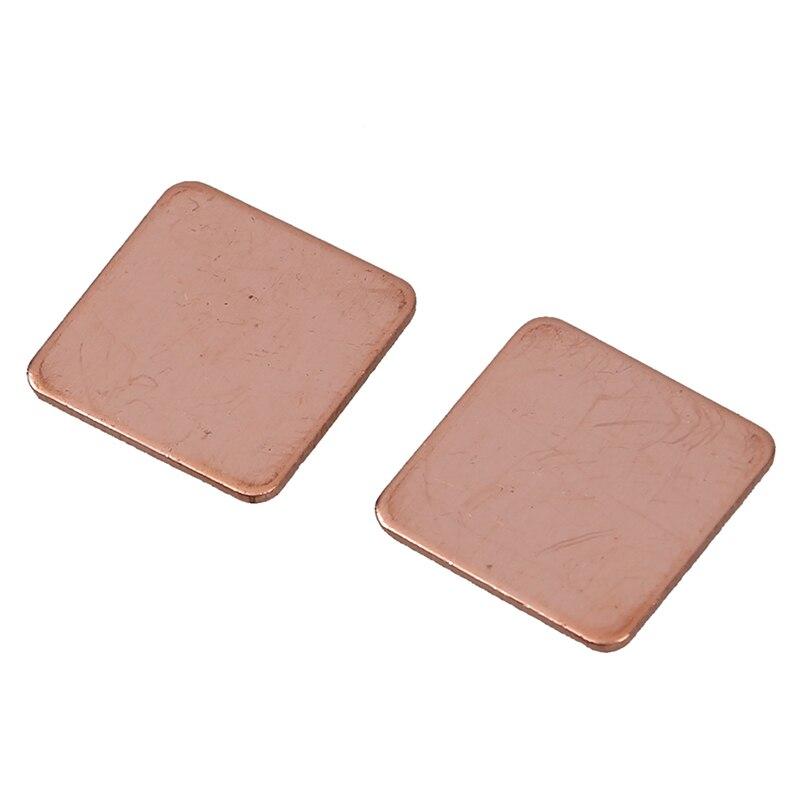 2x0,8mm Dicken Kühlkörper Thermal Pad Kupfer Shim Für Laptop Cpu Gpu 100% Garantie