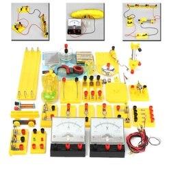 Experimentos de física electricidad aprender prueba física electromagnética equipo DIY experimento para estudiante de los niños