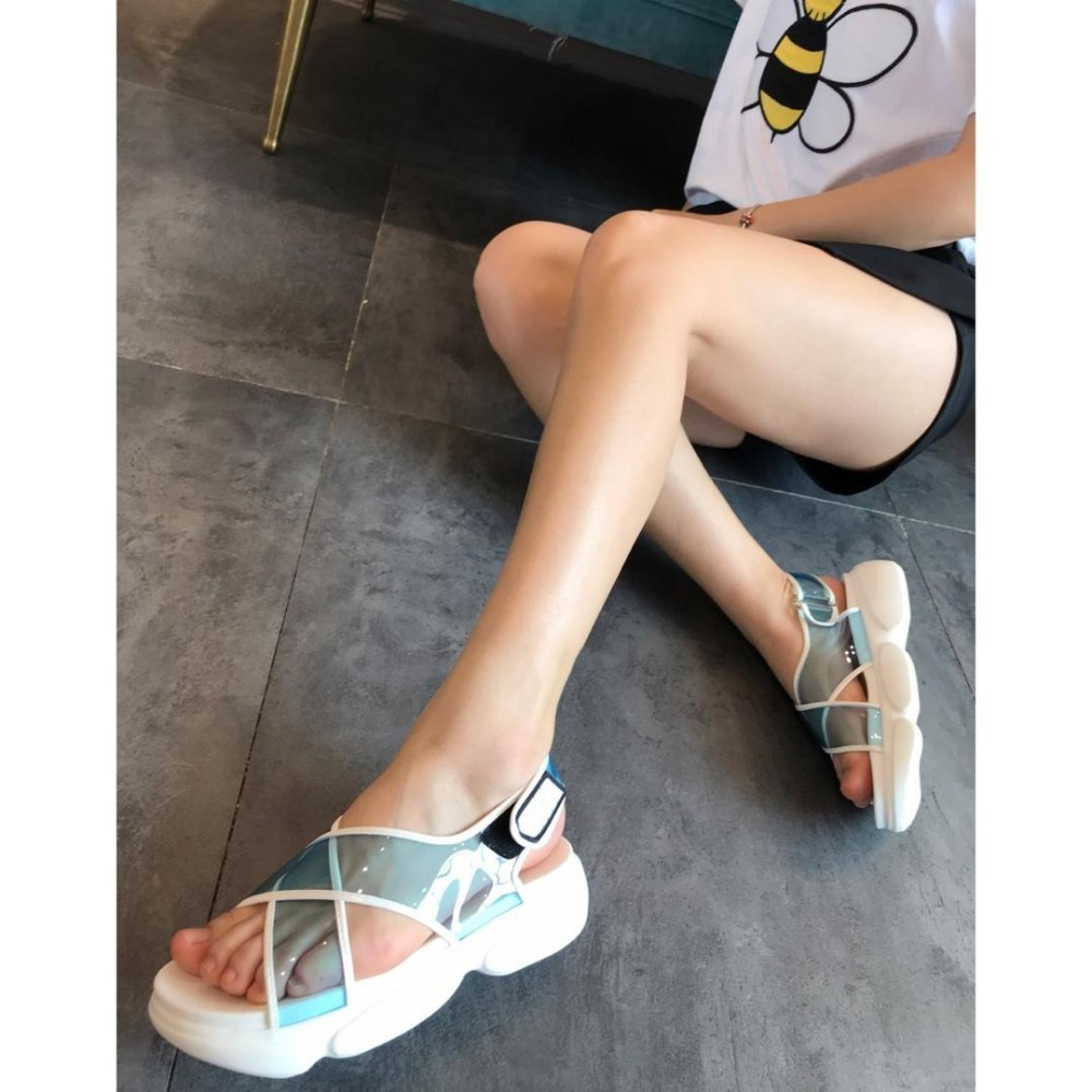Womens sandals transparent New 2019 summer Casual Fashion Comfortable Shoes Women Luxury BrandWomens sandals transparent New 2019 summer Casual Fashion Comfortable Shoes Women Luxury Brand