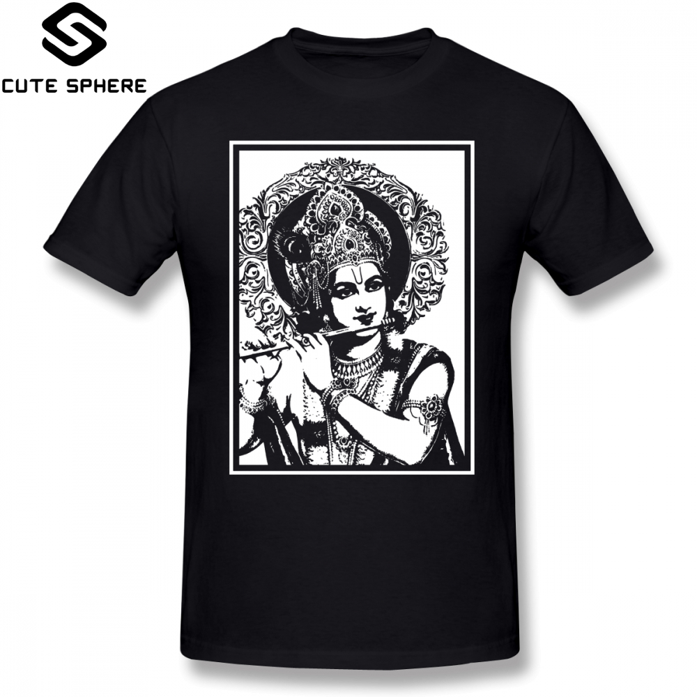US $11 72 36% OFF|Krishna T Shirt LORD KRISHNA T Shirt Classic Cotton Tee  Shirt Plus size Male Printed Awesome Short Sleeves Tshirt-in T-Shirts from