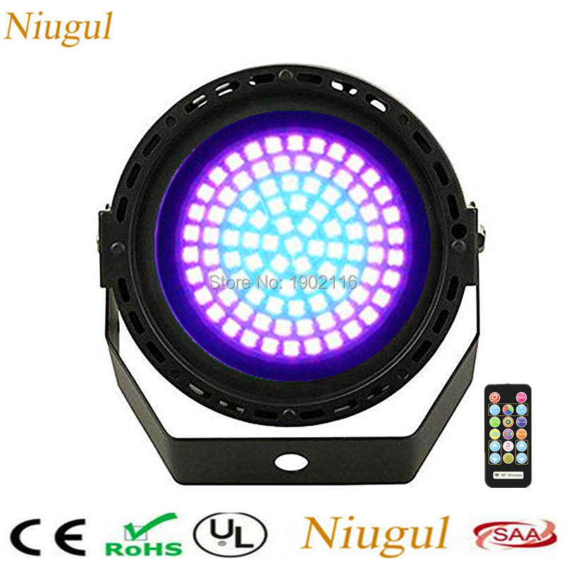 LED Par Light With IR Wireless Control 91 Leds RGB Color Strobe Lighting DMX512 Sound Activated Flash For Atmosphere Of DJ PartyLED Par Light With IR Wireless Control 91 Leds RGB Color Strobe Lighting DMX512 Sound Activated Flash For Atmosphere Of DJ Party