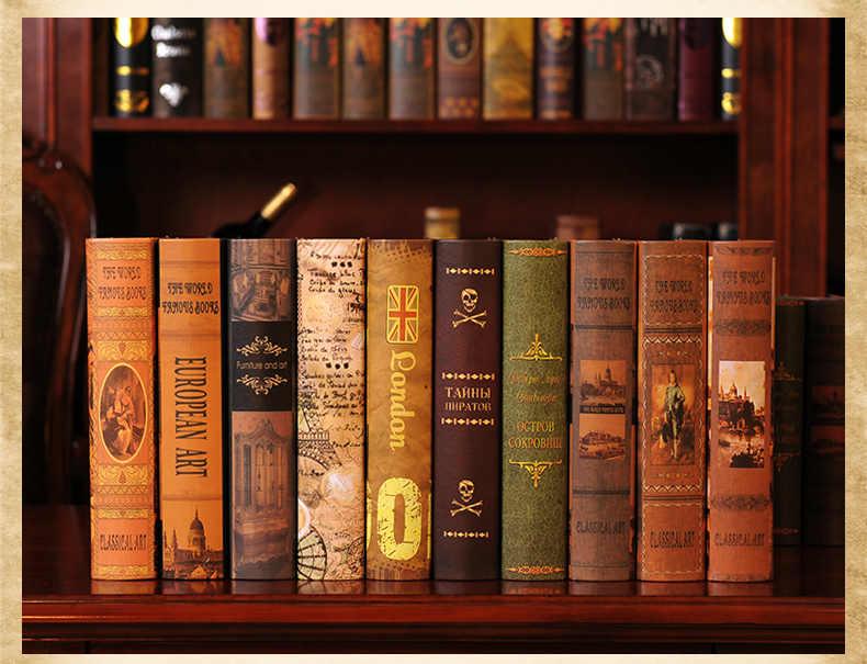 Creative Decorations Restaurants Cafes Living Rooms Bookshelves Creative Home Furnishings Vintage Decorations Fake Books Crafts