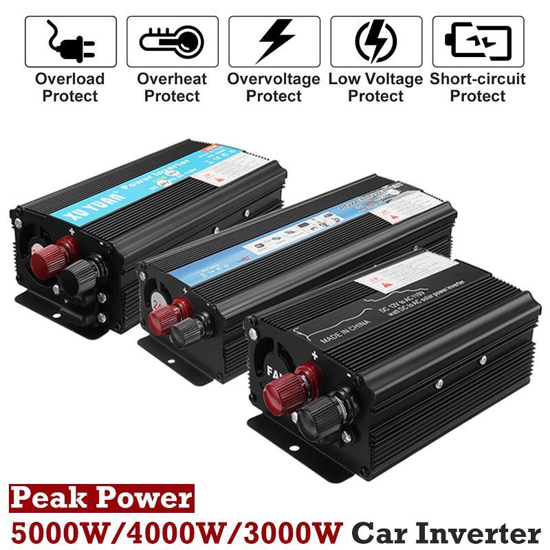 12V/24V DC to 110V/220V AC KROAK Modified Sine Wave Peaks 5000W Car Solar Power Inverter Voltage Convertor Transformer12V/24V DC to 110V/220V AC KROAK Modified Sine Wave Peaks 5000W Car Solar Power Inverter Voltage Convertor Transformer