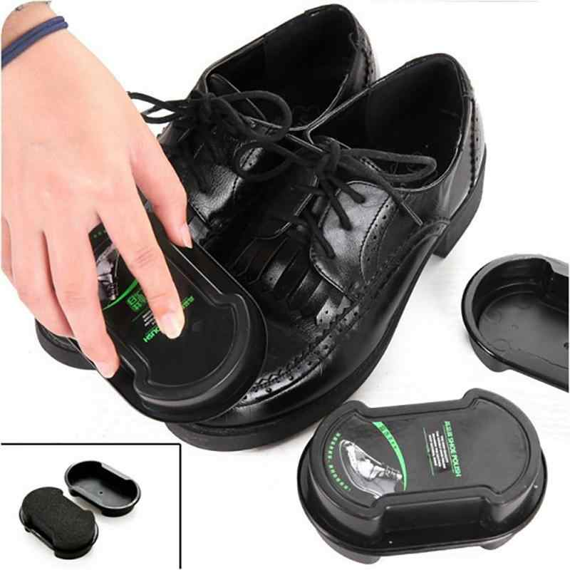 Shoes Brush Wax Shining Sponge Cleaner Polishing Cleaning Shoe Boot Care Double-sided brush home cleaning tool Cleaner Polishing