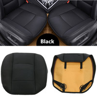 Universal Four Seasons Front Rear PU Leather Car Cover Seat Protector Cushion Black Auto accessories Cover 53cmx54cm