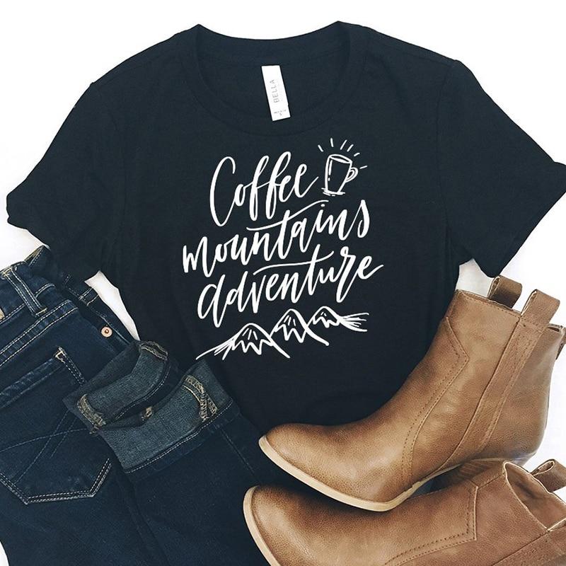 Coffee  Adventure Shirt But First Coffee T Shirt  Women Coffee Lover Cotton Causal Harajuku T Shirt Short Sleeve Graphic Shirts|T-Shirts| |  - title=