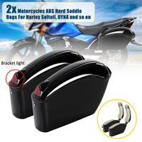 1Pair 26L Waterproof Motorcycle Bag Luggage Hard Trunk Saddlebags Sade Case for Motorbike Tool ABS Hard Saddle Bags Side Box