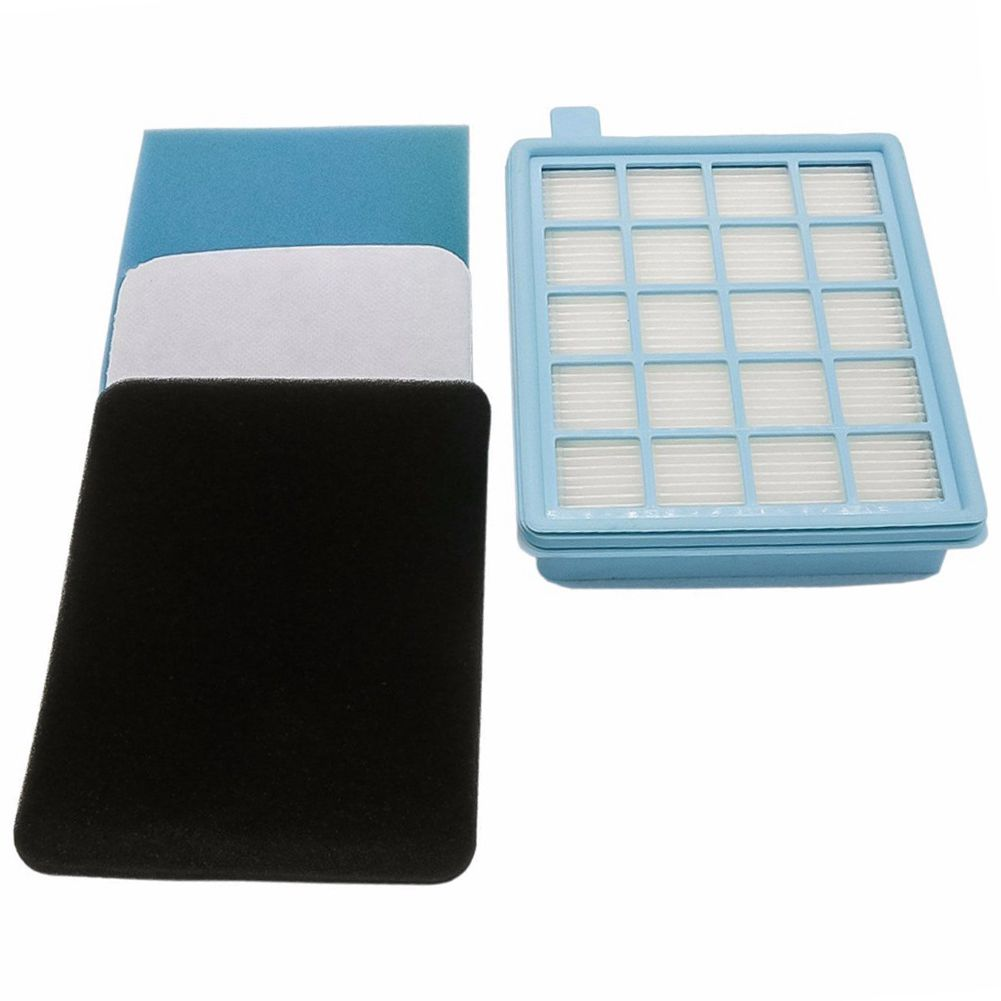 Filter Set For Philips PowerPro Active And Compact Vacuum Cleaner. (Comparable With FC8058 / 01)