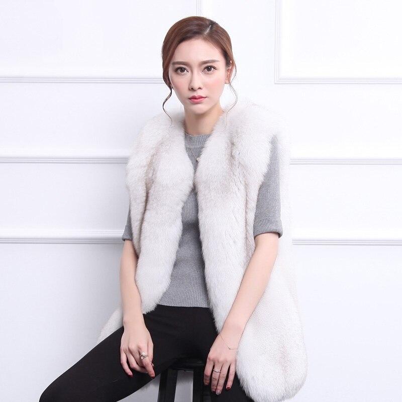 Nouveauté black Gilet Fourrure En Spéciale Manteaux Naturelle Veste Renard De Longue White Offre Vestes Arctique Femmes Vison Vests2019 4gTxA6nq5