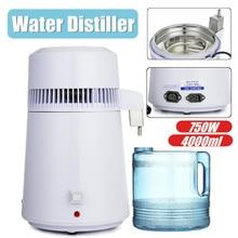 750W Portable Electric Pure Dental Water Distiller 4L Machine Distillation Purifier Stainless Steel Water Filter AU US UK Plug