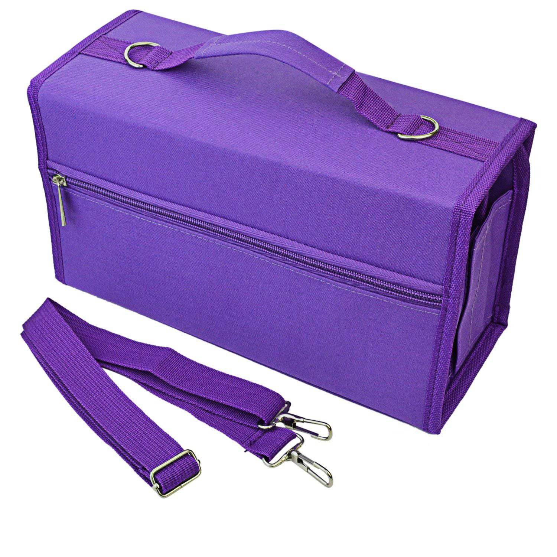 80 Slots Large Capacity Folding Marker Pen Case Art Markers Pen Storage Carrying Bag Durable Sketch Tools Organizer