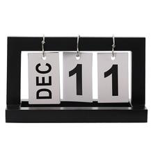 Винтажный деревянный стол, Парта, календарь, офисные настольные украшения, декоративный календарь, флип