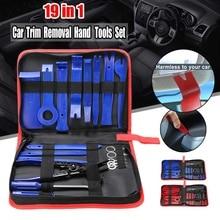 19 pz/set Auto Installer Rimozione Trim Kit Car Radio Door Panel Della Leva di Strumenti di Automobile di Fissaggio Remover Accessori
