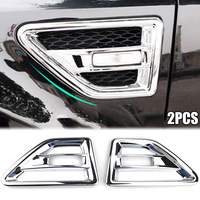 Right & Left Side Car Air Intake Accessories For Land Rover Freelander 2 LR2 2008 15 Chrome Side Air Intake Vent Cover Trim