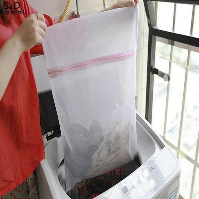 Bem organizado o seu Reutilizável lavagem Proteger Grosseiro Fazer Malha Underware Saco de Roupa de malha de Lavanderia Lavar Roupas