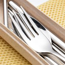 7pcs Straw Cutlery Suit Stainless Steel Portable Recyclable Spoon Chopsticks Straw Tableware For Restaurant Hotel Family Travel