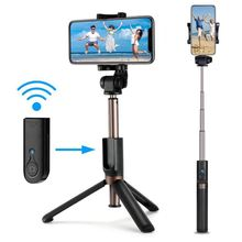Selfie Stick Tripod Bluetooth Wireless Mini Rod with Detachable Remote 3 in 1 Extendable f