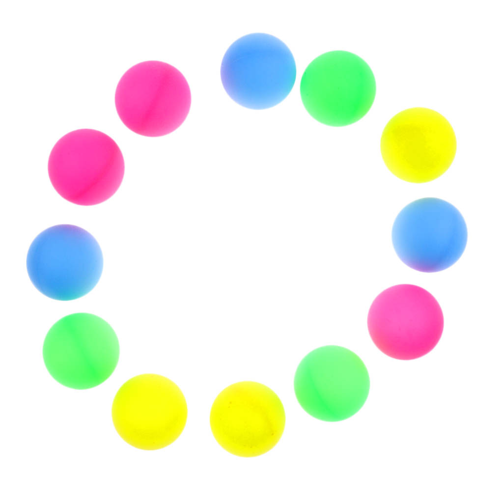 12 Pieces Multi-colored Beer Ping Pong Balls Table Tennis Decoration Balls Toy Raffle Balls