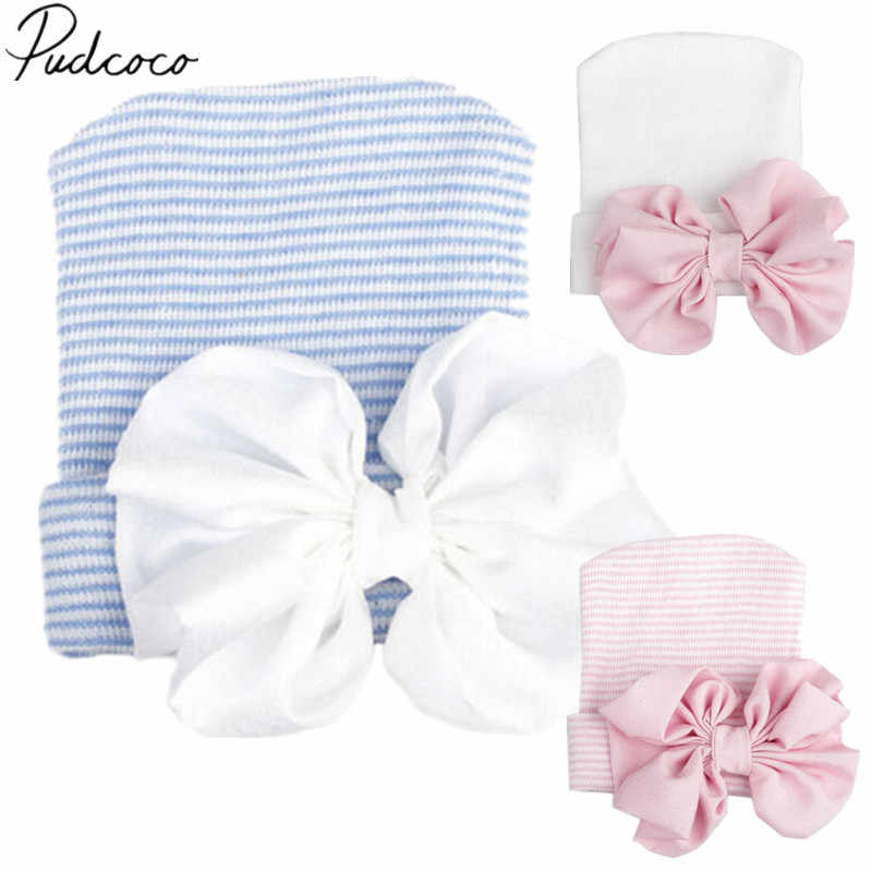 91d85031645f Detail Feedback Questions about 2018 Brand New Newborn Infant Baby Girls  Boys Hats Comfy Bowknot Solid Knit Warm Cap Beanie Hospital Hat Outfit 0 6M  3 ...