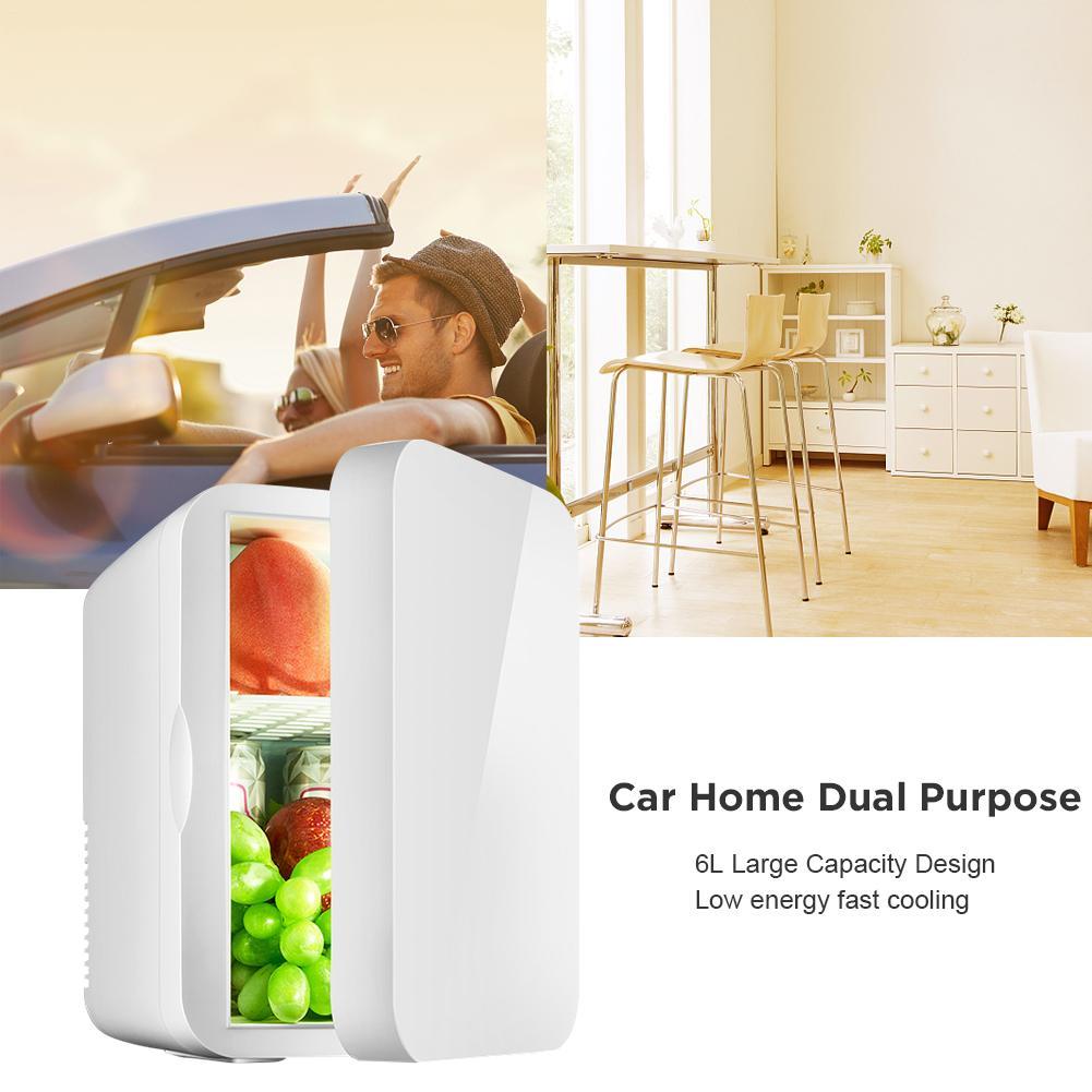 Mini refrigerador pequeno 12 v carro geladeira 220 v única porta carro casa dupla-uso termoelétrico mini refrigerador aquecedor