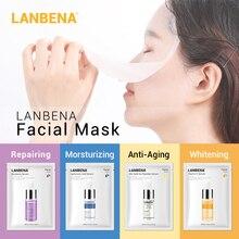 Lanbena Face Masks Hyaluronic Acid Vitamin C Serum Blueberry Sheet Mask Moisturize Whitening Anti-aging Water-locking Skin Care
