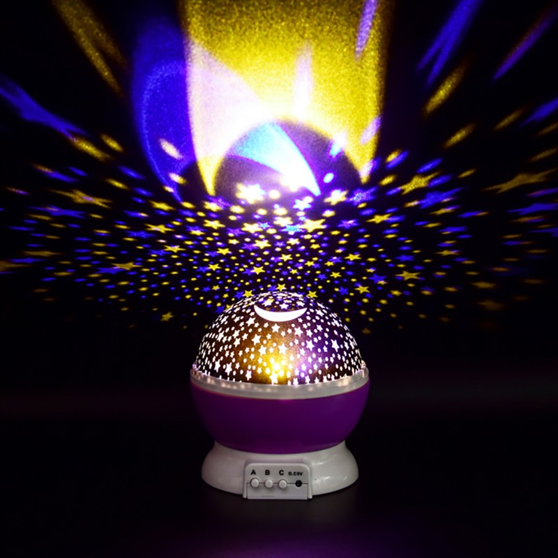 LED Night Light 3D Galaxy Rotating Projector Starry Night Light Star Sky Lighting Novelty Magic Ball Lamp Party Wedding Decor