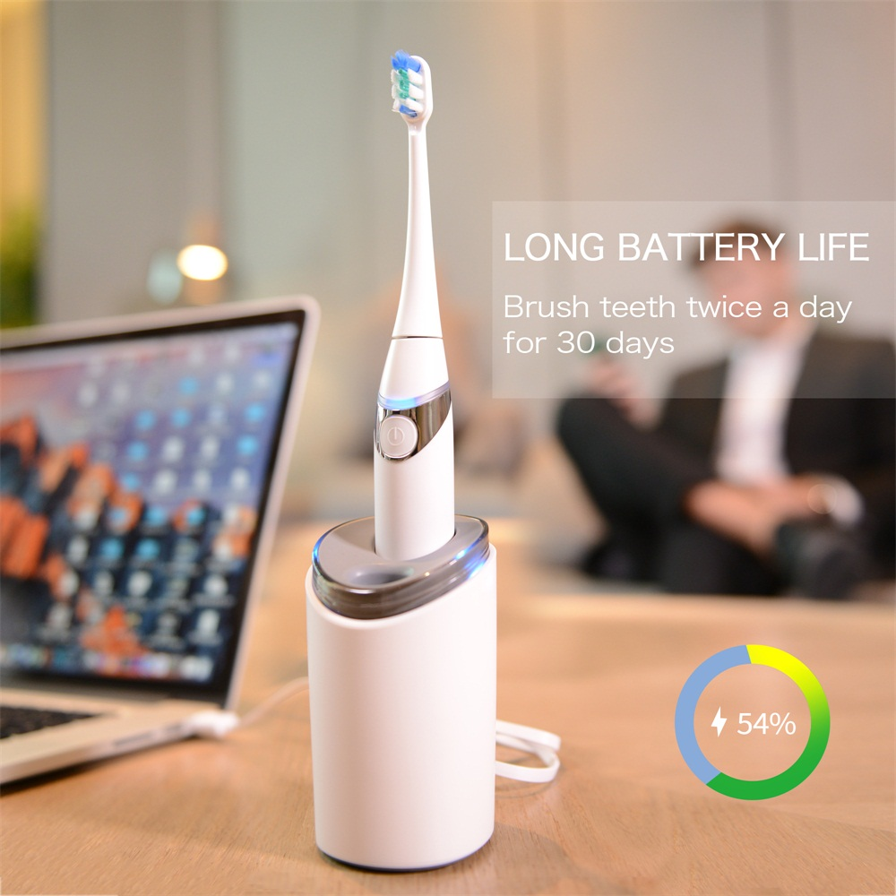 Electric Toothbrush Kit UV Sanitizer Dryer Rinse Cup Portable Adults White Waterproof Sterilization Drying Portable Travel Suit