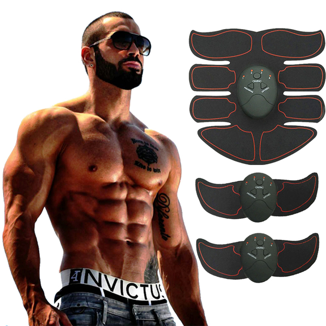 Electric Muscle Training Machine Abdominal Arm Muscle Trainer Body Slimming Exerciser Body Building Fitness Muscle Stimulator