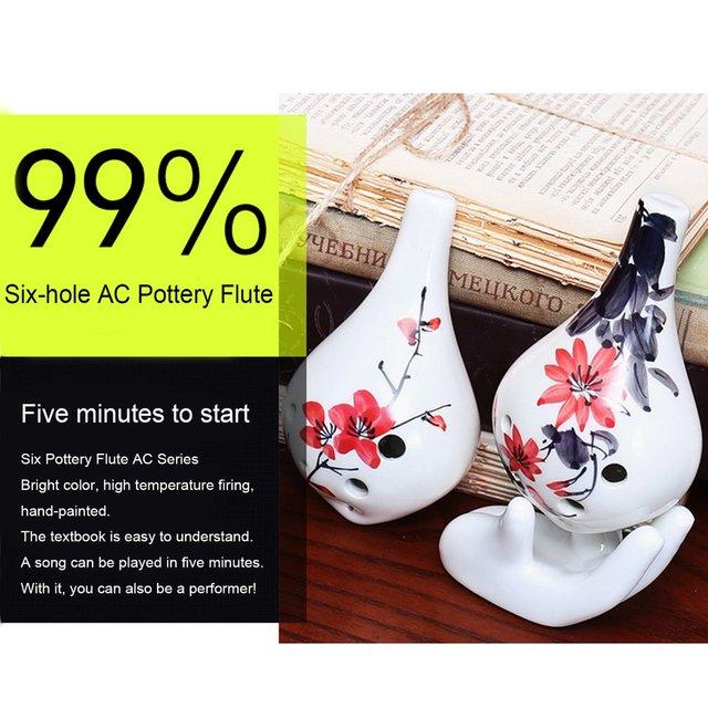 Ceramic Pottery 6 Holes Ocarina Flute Zelda