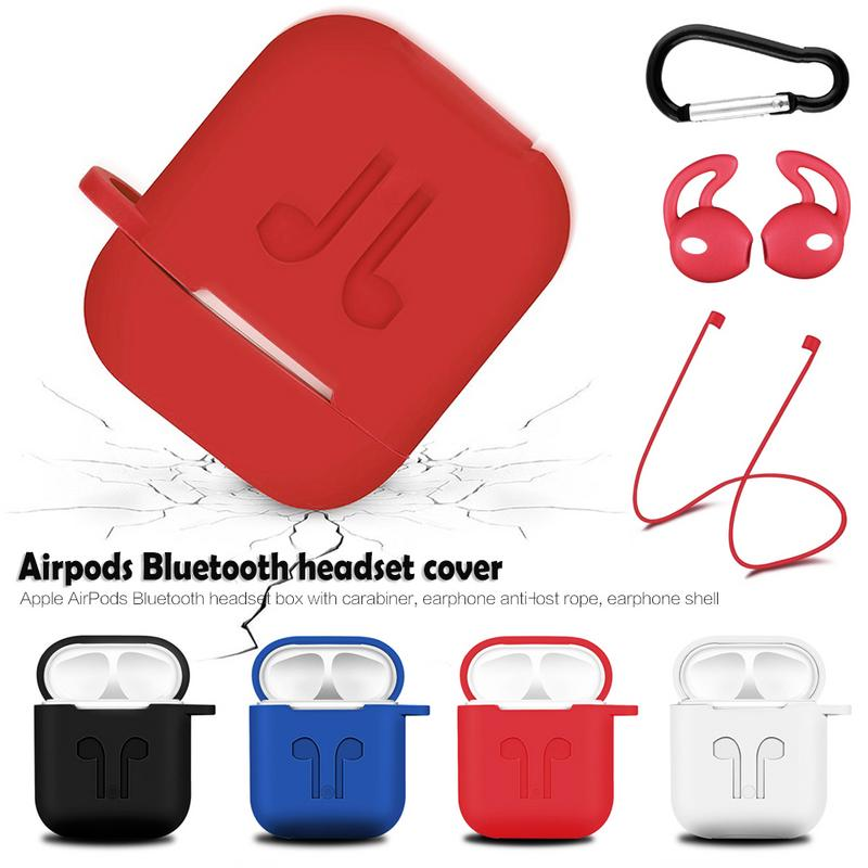 Wireless Bluetooth Headset Protective Case With Lanyard Silica Gel Non slip Portable Dust proof Anti lost