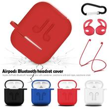 Wireless Bluetooth Headset Protective Case With Lanyard Silica Gel Non-slip Portable Dust-proof Anti-lost Waterproof For Airpods