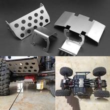 Châssis essieu avant plaque pour Axial Scx10 II 90046 90047 90059 90060 RC voiture métal Protection châssis essieu plaque