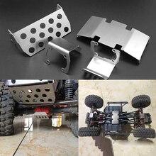 Podwozie przednia oś płyta dla Axial Scx10 II 90046 90047 90059 90060 RC metalowy samochód ochrona podwozie oś płyta