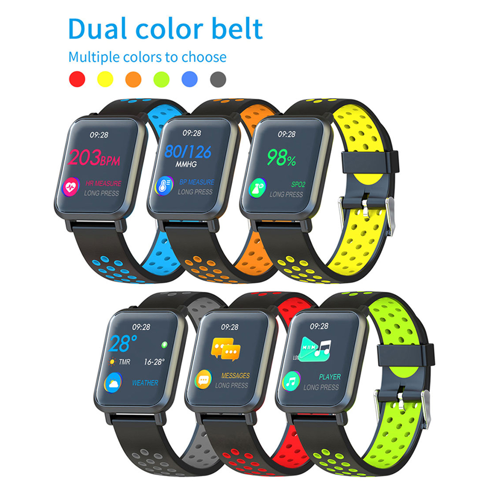 COLMI Smart watch S9 Plus 2.5D Screen Gorilla Glass IP68 Waterproof Clock Fitness Activity Tracker Smartwatch for apple phone-in Smart Watches from Consumer Electronics    2