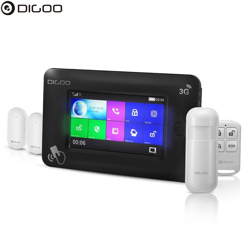 DIGOO DG-HAMA 3G Version Smart Home Security Alarm System Kits Window Door PIR Sensor APP Control Work With Amazon Alexa