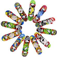 12PSC Mini Alloy Finger Skateboard Exquisite Novelty Funny Toy Children Creative Frosted Skateboard Finger Toy Color Random(China)