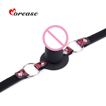 Morease Oral Sex Toys Mouth Gag Dildo Stuff Adult Games Fetish Harness Sexual Product BDSM Salve Cosplay Game Erotic Bondage