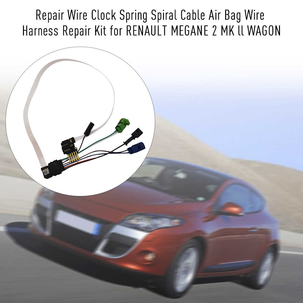 repair wire clock spring spiral cable air bag wire harness repair kit for renault megane 2  [ 1000 x 1000 Pixel ]