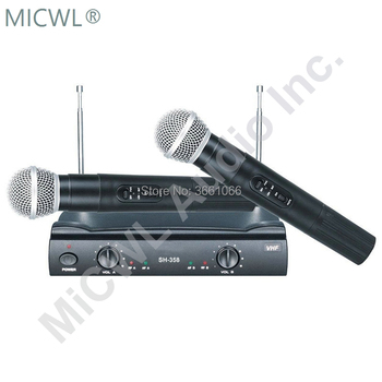 MiCWL Audio PGX 242 fixed frequency 2 dual handheld transmitter karaoke party entertainment wireless 58 microphone SH-358