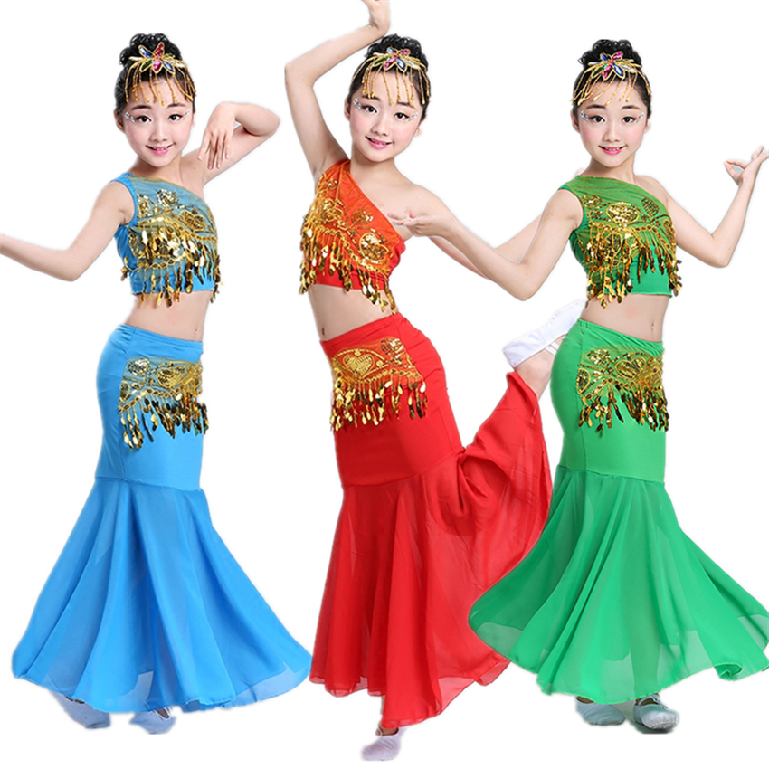 6Color 2019 Girls Dance Costumes Festival Outfit Traditional Chinese Folk Dai Dancing Stage Performance Clothing+Pant Set
