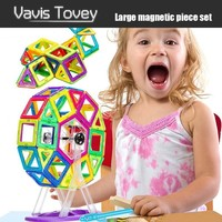 Vavis Tovey 30 200pcs Creative Magnetic Building Tiles Magnet Designer Construction Blocks Toddlers Best 3D Educational Toys